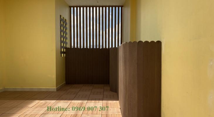 Gợi ý trang trí gỗ nhựa trên sân thượng tiết kiệm nhất